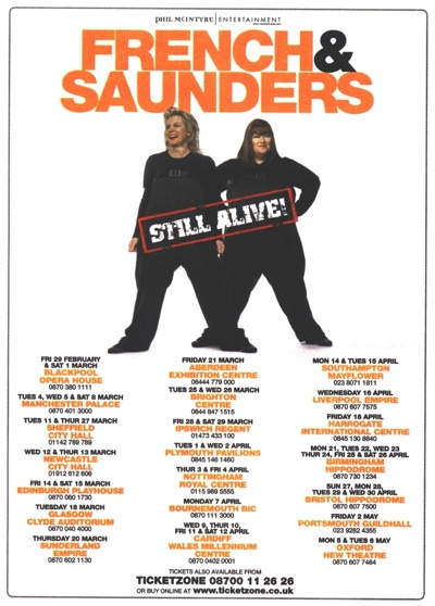 French and Saunders Still Alive press ad